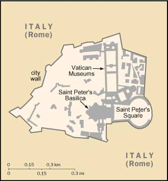 Big Italy Map  Map of Vatican City Holy See Italy Atlas