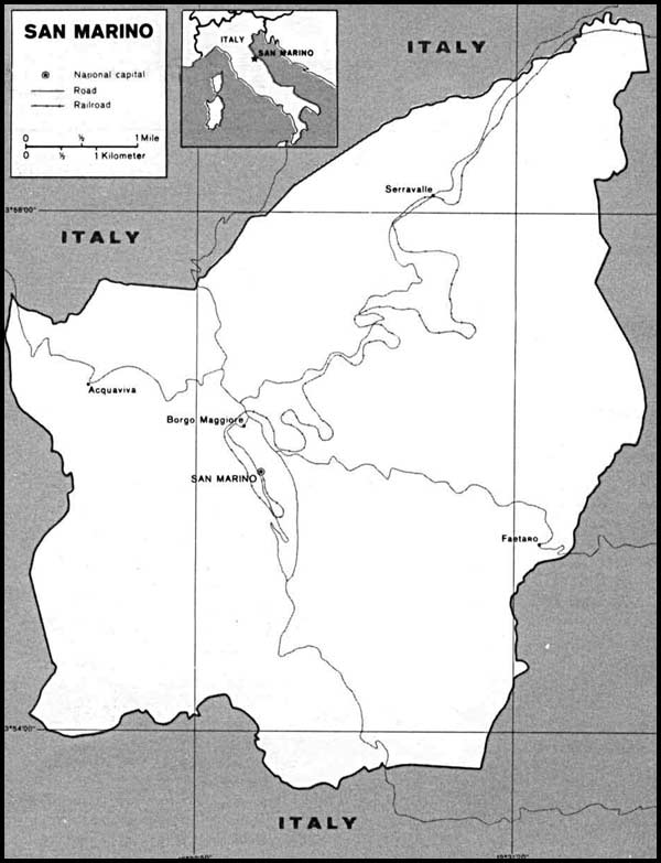 Map of San Marino